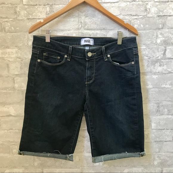 Paige Denim Cuffed Denim Shorts 29 Women's Clothing